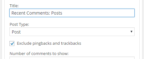 advanced comments widget title option